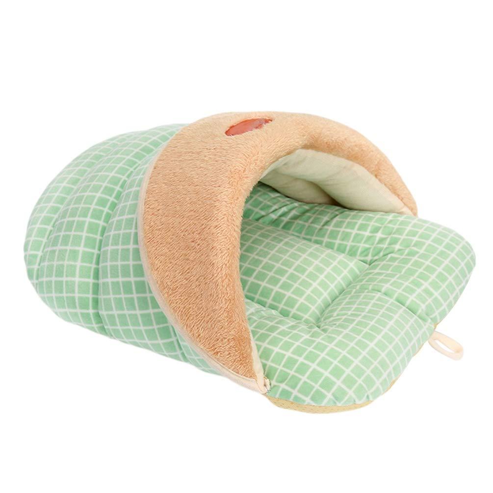 TianBin Style de Pantoufle Lit pour Animal de Compagnie Sac de Couchage Doux et Chaud Convient Chiens et Chats (Style 2, L)