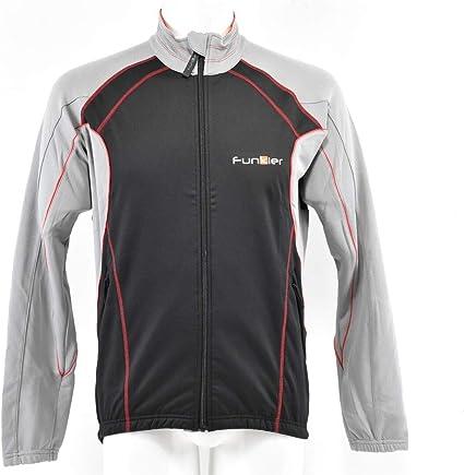 Black and Grey, medium Funkier Winter Cycling Jacket Wj-1303