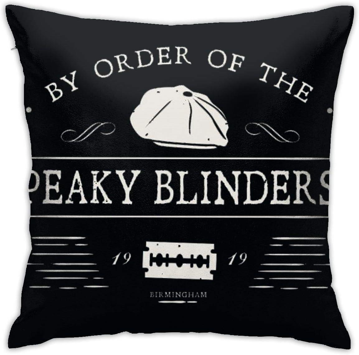 XIANG-XIANG Shelby Company by Order of The Peaky Blinders Fundas de Almohada Estampadas cuadradas, Fundas de Almohada con Cremallera Oculta, 100% poliéster: Amazon.es: Hogar