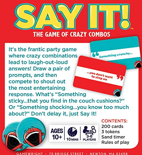 """Gamewright - Say It! The Game of Crazy Combos, 5"""""""