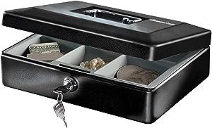 SentrySafe Cash Box, Locking Cash Box With Money Tray, Small, CB-10