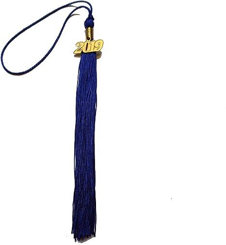 GraduationRoyal 9 inch Graduation Tassel Black with Gold 2020 Year Charm