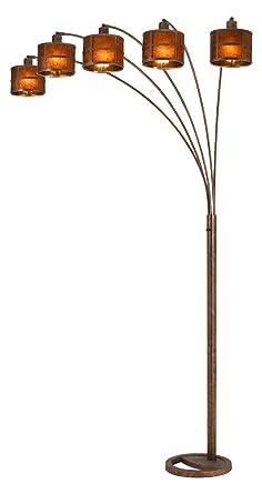 60w X 5 Mica Arc 5 Arms Floor Lamp Amazon Com