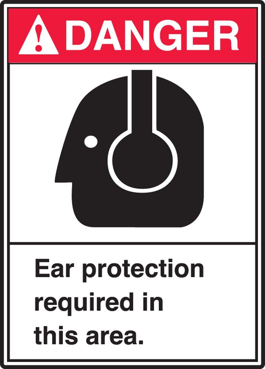 Requiere protección para los oídos en esta zona (W/Graphic ...
