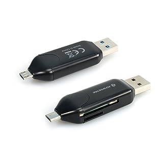Zoweetek® Lector de tarjetas de memoria USB para Movíl y Computadoras, negro