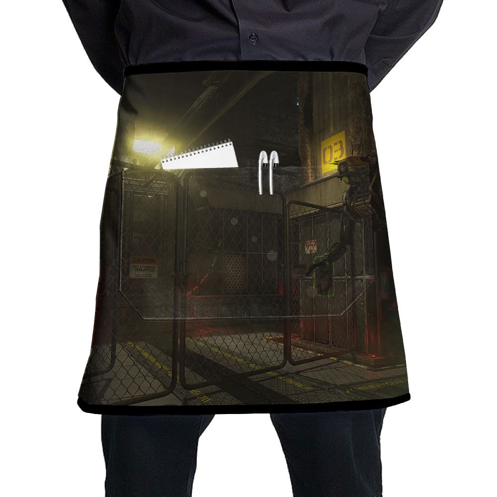 SOMA Video Games Futuristic Mech Adjustable Apron With Pocket For Kitchen Garden Cooking Grilling Women's Men's Great Gift For Wife Ladies Men Boyfriend