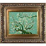 overstockArt Van Gogh Branches of an Almond Tree in Blossom Painting with Baroque Wood Frame, Antiqued Gold Finish