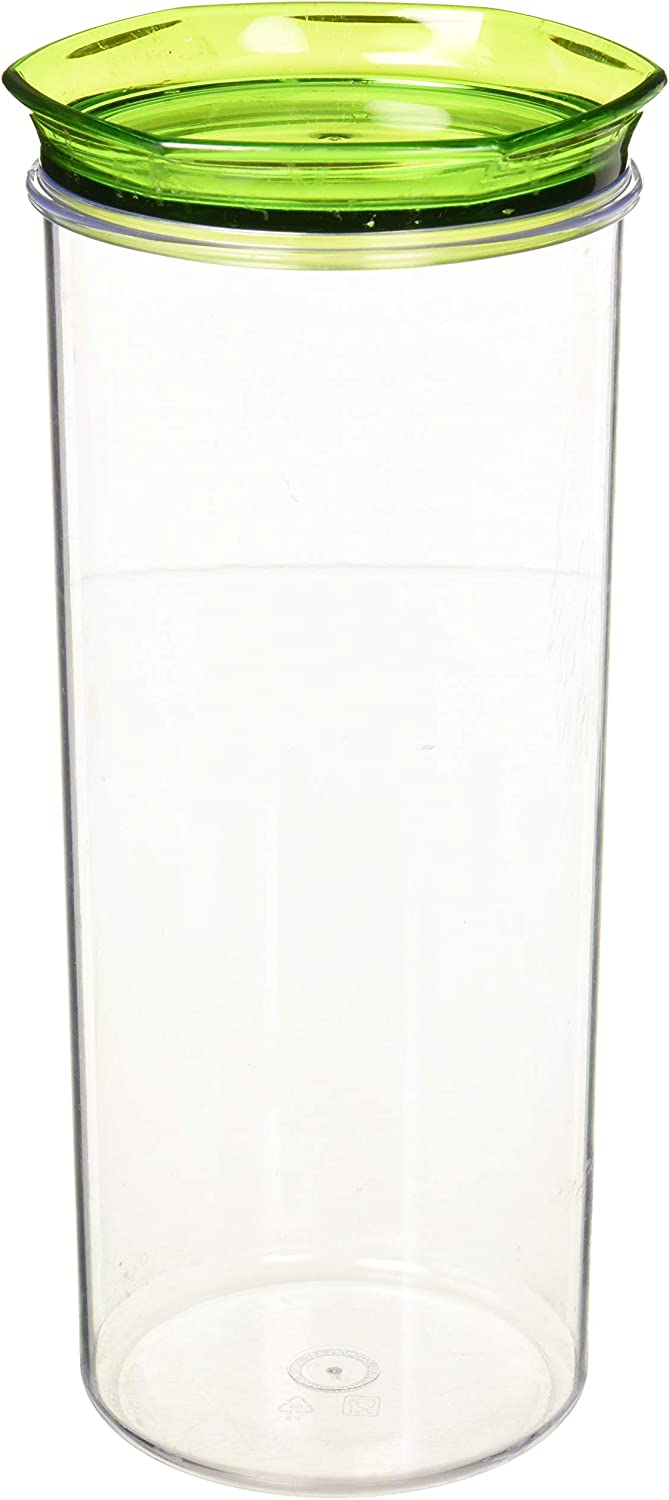 Uniware Freshness-safe Round Canister, Airtight Lids, BPA Free, Made in Italy, Assorted Colors, (102 oz)
