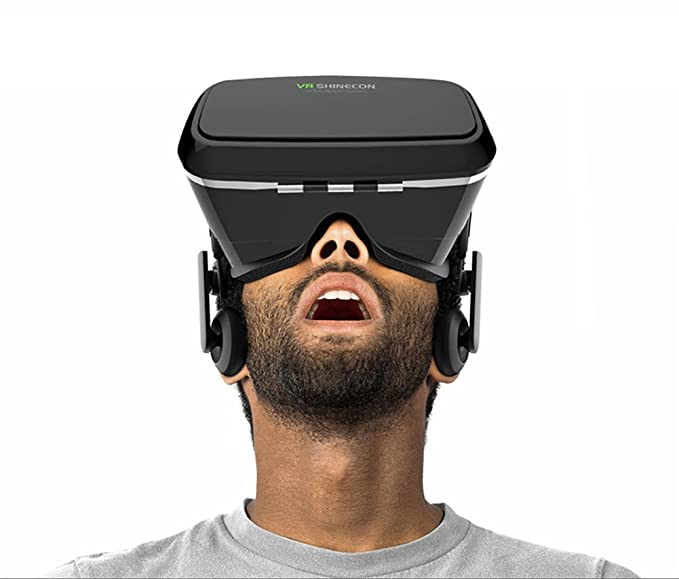 55b453b41fd9 Image Unavailable. Image not available for. Color  Morjava VR Shinecon 3D VR  GLASS Head Mount Virtual Reality 3d Video Glasses for 4~