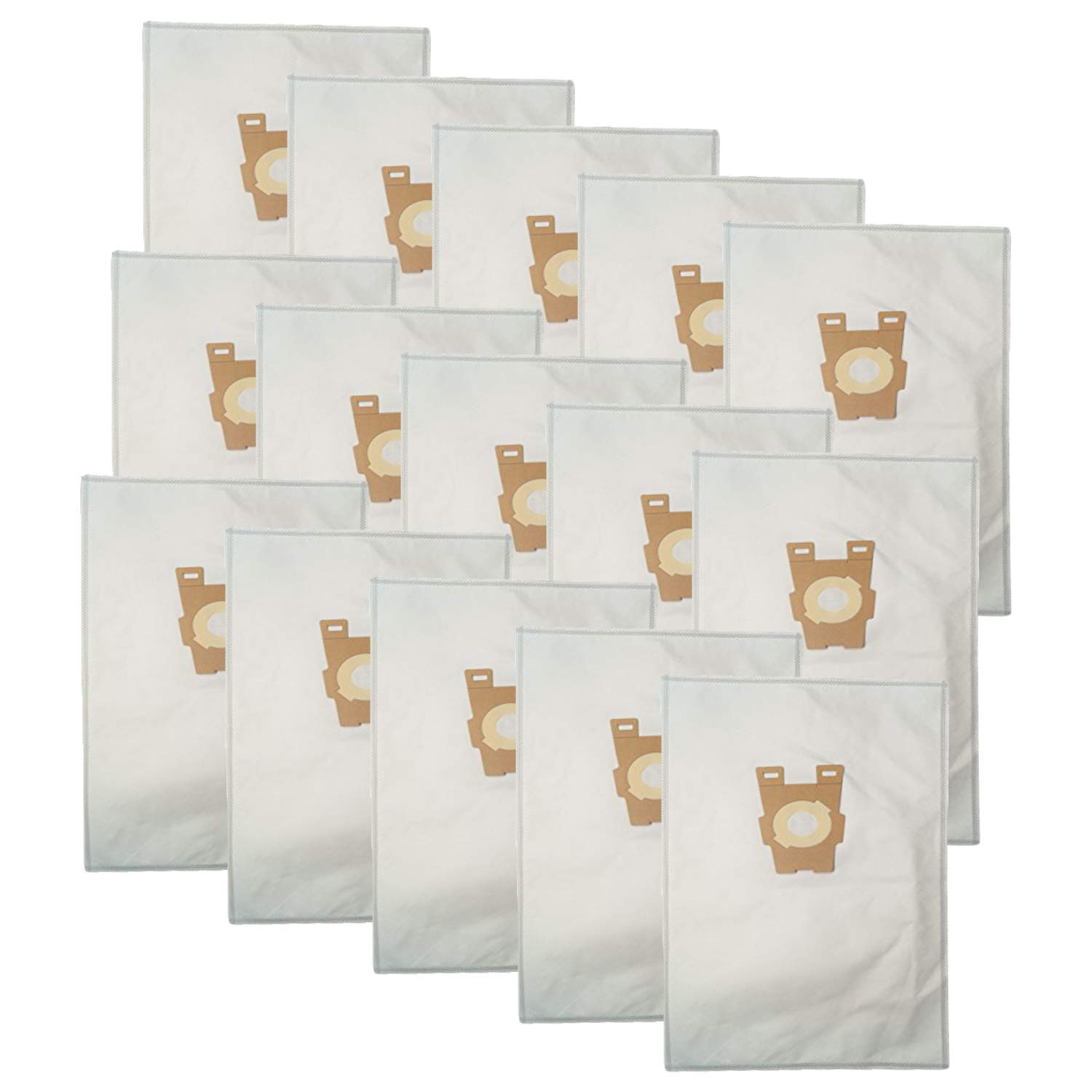 ZVac 15Pk Compatible Cloth Vacuum Bags Replacement for Kirby Vacuum Bags Style F. Fits All Ultimate G Diamond Edition, Ultimate G Series, Gsix, Sentria (Year 2009+). Replaces Part# 204808, 204808GW by ZVac