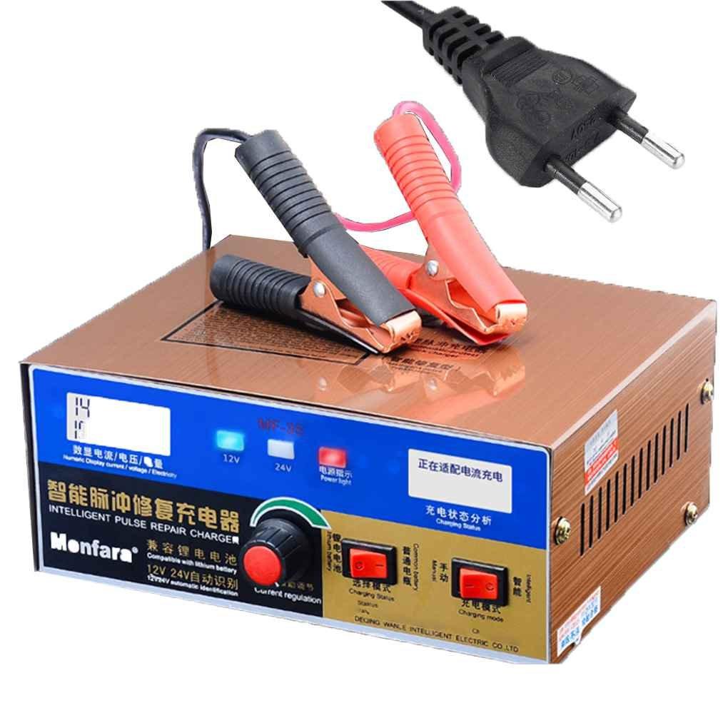 Royalr Automatique 110 / 220V 12V / 24V 400AH Voiture Scooter E-Bike Acide de Plomb Batterie au Lithium Chargeur Affichage à LED de Type Pulse réparation AmzRoyalr2337