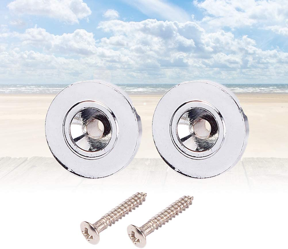 LIOOBO 2pcs Guitar Steel Roller String Trees String Retainer String Guide with Screws for Electric Guitar Parts Replacement Silver