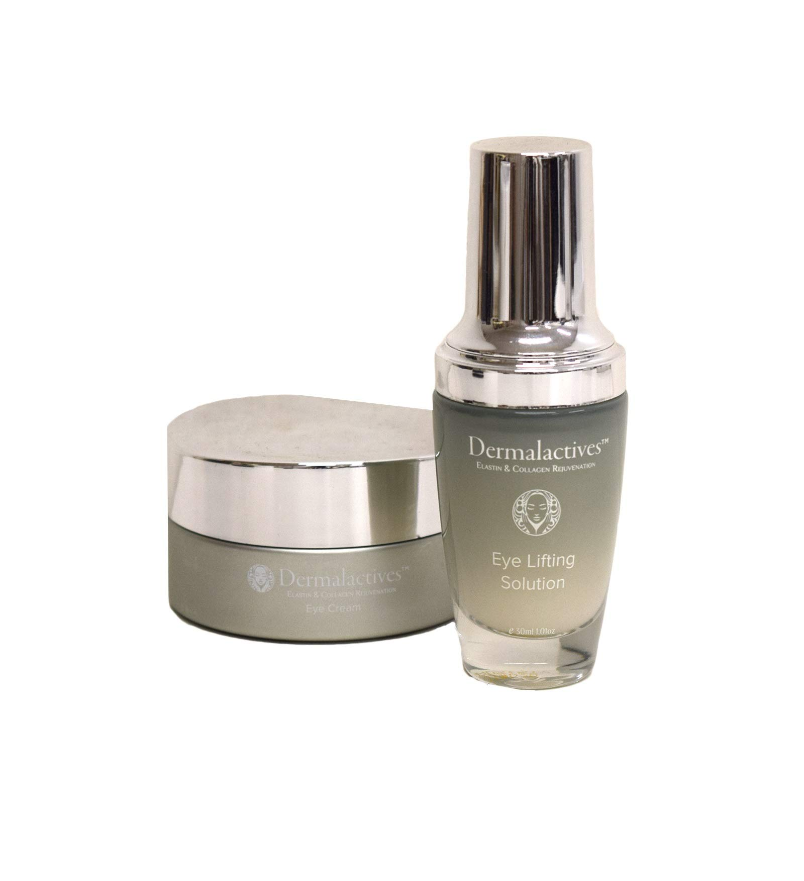 Dermalactives Eye Lifting Set - This Unique Eye Solutions Set Hydrate The Skin, Protect It and Enhance Collagen Production As Well As Re-Energize The Eye Zone
