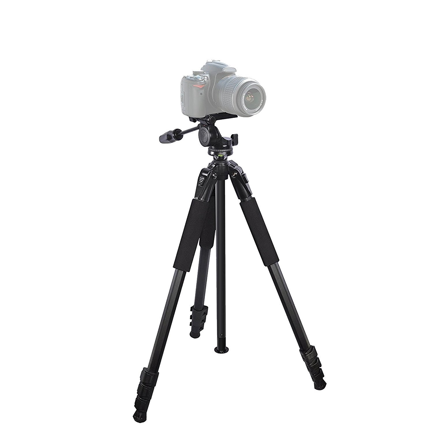 Durable 80'' Portable tripod for : Canon PowerShot A2000 IS CameraTripod - 360 Degree Pan, Tilt + Quick Release, Vertical Leg Adjustments, (2) Bubble Level Indicators + Durable Carry Case by iSnapPhoto