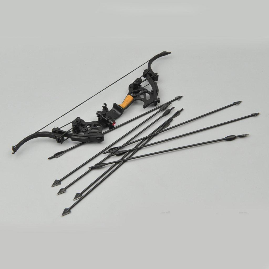 sharprepublic 1//6 Scala Nero Compound Arco con Frecce 8pcs Misura 12 Action Figure ZY
