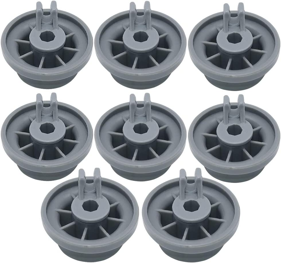 Primeswift 165314 Durable Dishwasher Lower Rack Wheel Replacement for Kenmore Bosch 00420198 PS8697067,8 Pack
