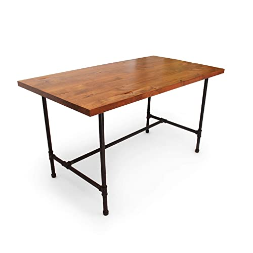 Incredible Amazon Com Wood Desk With Black Pipe Legs Solid Wood Table Download Free Architecture Designs Scobabritishbridgeorg