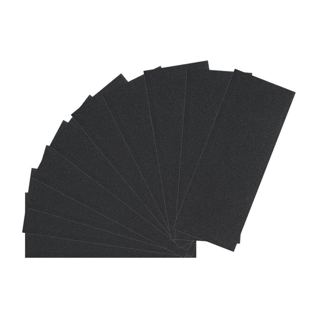 Fityle 10pcs 9x3.6 Sanding Discs Sandpaper Hook and Loop Abrasive Polishing Pads 600#