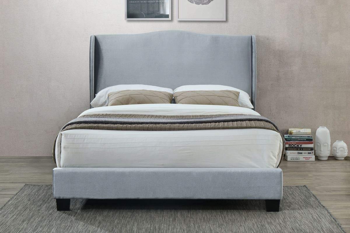 Silver Dover Fabric Bed 120cm Birlea