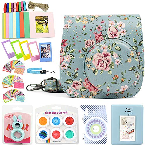 Wogozan 9 in 1 Case Accessories Package Fujifilm Instax Mini 9 Mini 8+ Mini 8 (Rose Blue Kit) ()