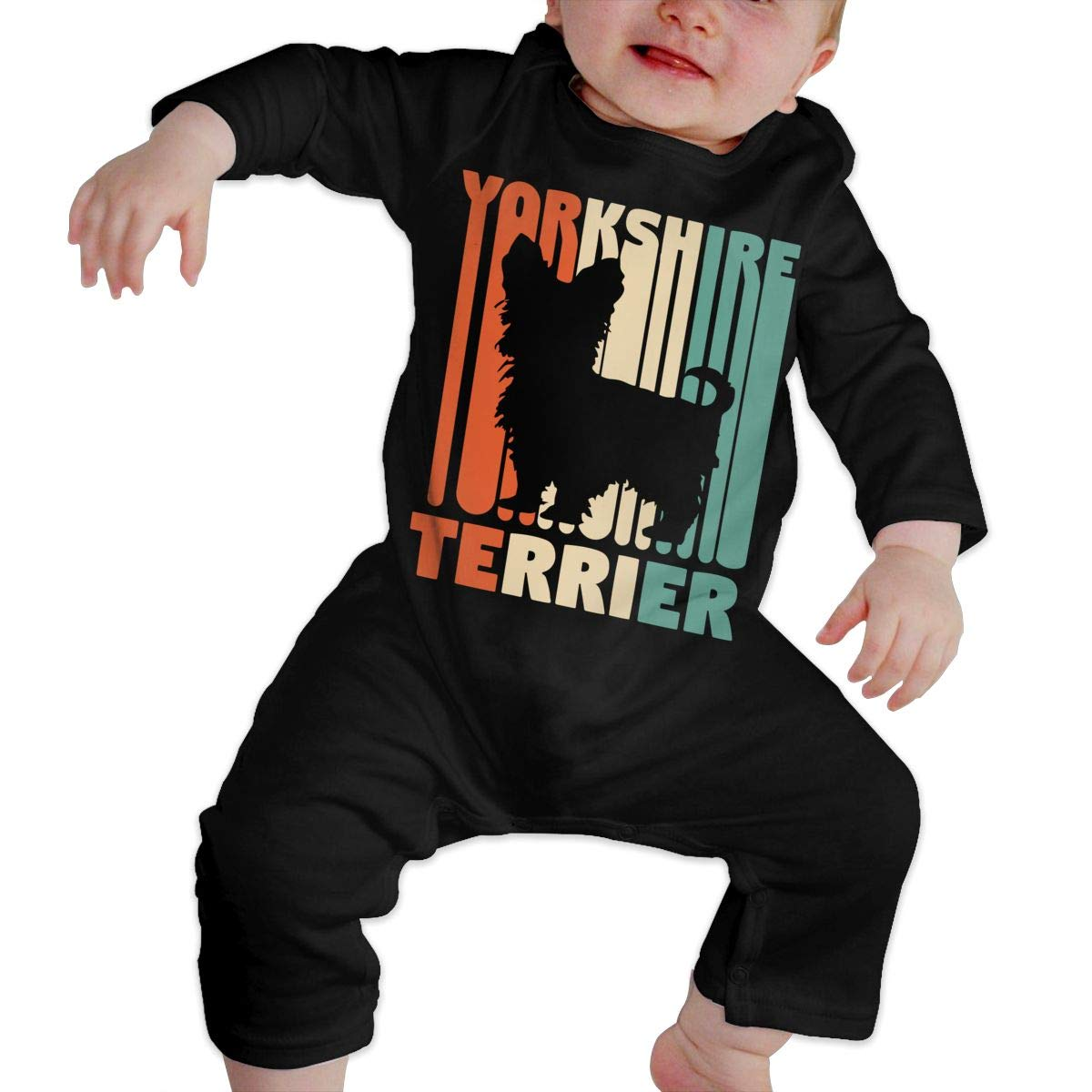 Vintage Yorkshire Terrier Unisex Baby Sleep and Play Bodysuit Jumpsuit Outfits