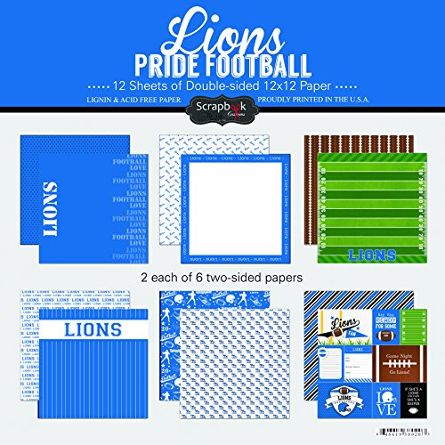 Scrapbook Customs Lions Pride Football Scrapbook ()