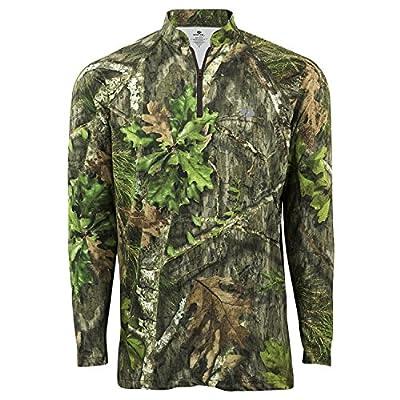 Mossy Oak Lightweight Hunting 1/4 Zip Shirt