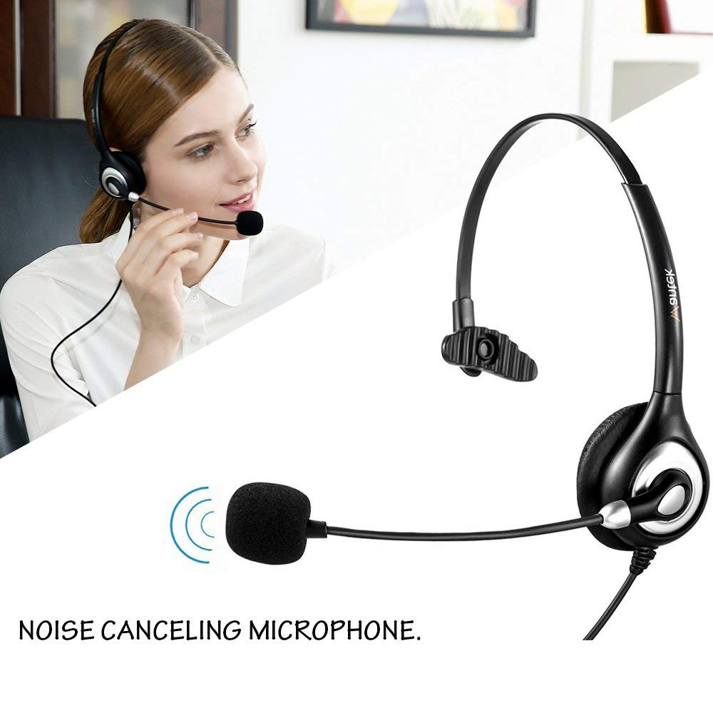 Super Lightweight Crystal Clear Chat Call Center UC602 Wantek UC Business Headset for Skype SoftPhone Corded USB Headsets Stereo with Noise Cancelling Mic and in-line Controls Ultra Comfort