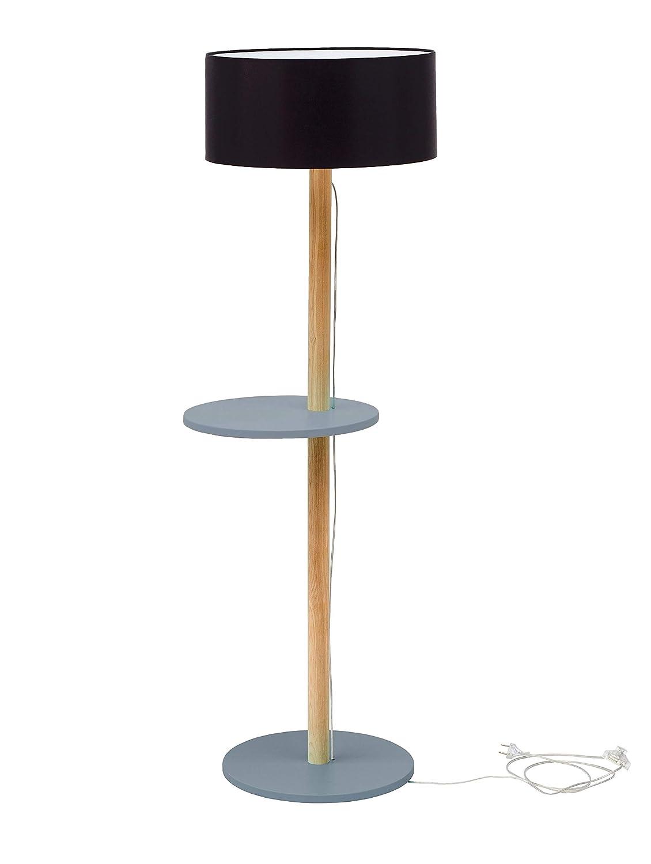 Ufo Holz Stehlampe Mit Regal Moderner Skandinavischer Stil Fur