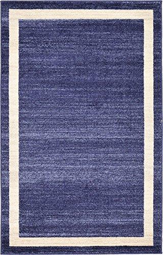 Unique Loom Del Mar Collection Contemporary Transitional Navy Blue Area Rug (3' 3 x 5' 3)