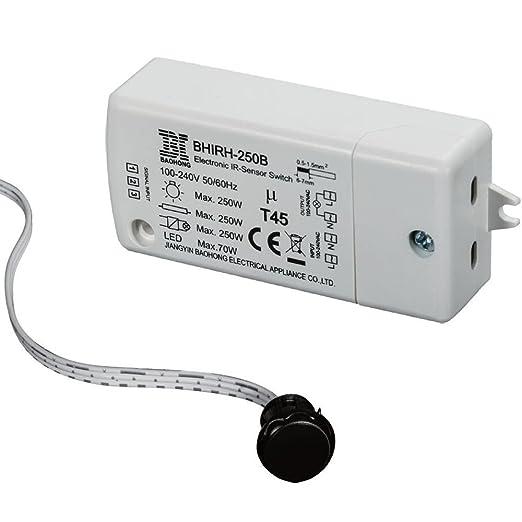 Interruptor infrarrojo del sensor-HoneyFly BHIRH-250B Interruptor del sensor 250W(Max.