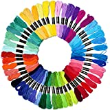 100 Skeins Per Pack Z ZICOME Rainbow Color Embroidery Floss Thread for Cross Stitch Friendship Bracelets Crafts