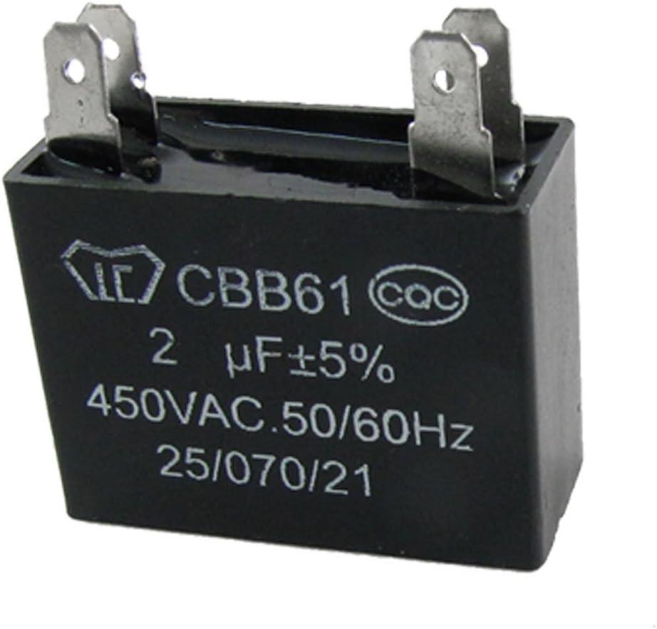 DealMux Ventilador de techo 2uf cbb61 Motor lámina de polipropileno condensador.