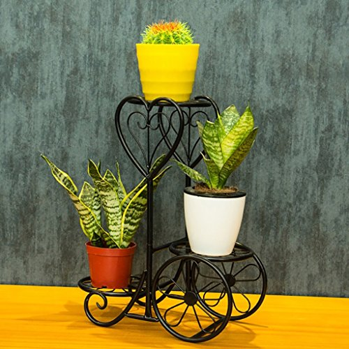 Pergolas/flower racks Iron Flower Stand Multilayer Desk Balcony Flower Shelf Living Room Desktop Mini Flower Stand flower display stands (Color : B) by Chairs FL