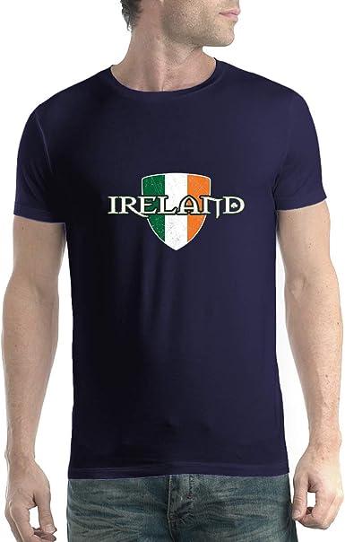 avocadoWEAR Bandera de Irlanda Orgulloso e Irlandés Hombre Camiseta Azul Marino XL: Amazon.es: Ropa y accesorios