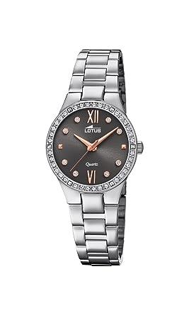 Lotus Watches Reloj Análogo clásico para Mujer de Cuarzo con Correa en Acero Inoxidable 18460/2: Lotus: Amazon.es: Relojes