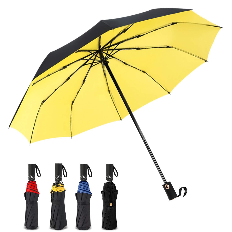 DORRISO Automatique Ouvrir Fermer Pliant Parapluie Entreprise Voyage  Coupe-Vent Ombrelle  é tanche Homme 8c0d4988a4b