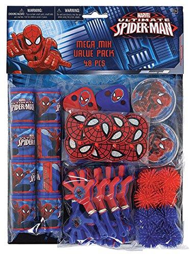 kit 48 regalini dopo festa spiderman, regalini per pignatta, regalini spiderman tuttofesta