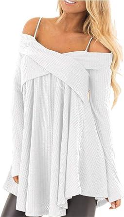Haut Femmes Shirt Pull Shirt Blouses Shirt Pull Manches Longues 34 36 38 S M