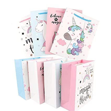Amazon Com 8 Pack Unicorn Goodie Bags Bulk For Unicorn Party