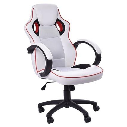 Ajustable Ejecutivo Sports Racing Gaming ordenador silla de oficina de piel sintética (Reino Unido stock