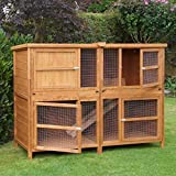 6ft Chartwell Double Luxury Guinea Pig Rabbit Hutch   Perfect Outdoor & Indoor Rabbit Hutch for 2 Rabbits Or Guinea Pigs   The Biggest Hutch On Amazon