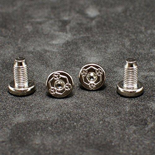 (1911 Colt pistol grips screws 4 X 1911 colt screws. Nickel plated)