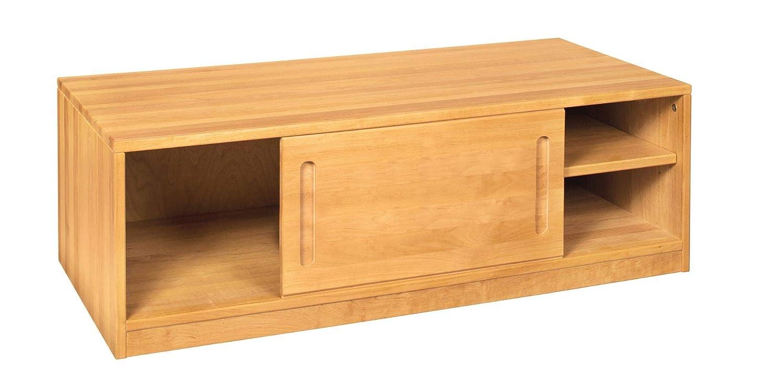 BioKinder Sideboard Bettkasten Kommode mit Schiebetür Lina aus Massivholz Erle 120 x 55 x 40 cm