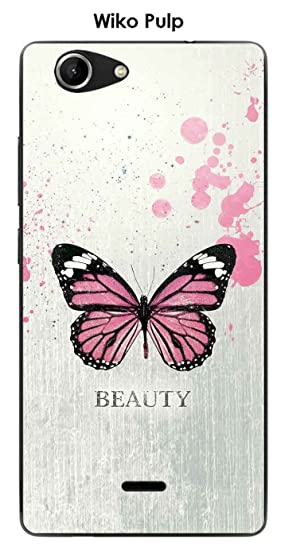 Onozo Carcasa Wiko Pulp Design Beauty Butterfly: Amazon.es ...