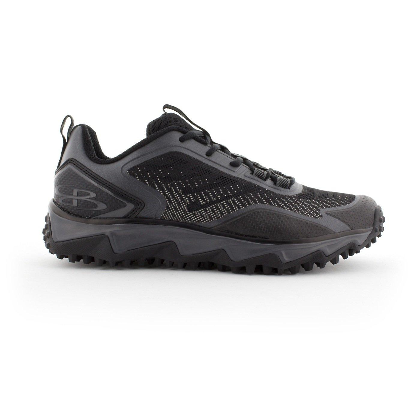 BoombahメンズBerzerk Turf Shoes – 13色オプション – 複数のサイズ B076B3LB9Z 11|ブラック/チャーコール ブラック/チャーコール 11