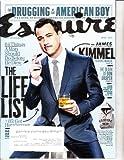 Esquire Magazine April 2014 Jimmy Kimmel Cover, the Life List