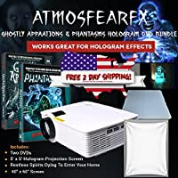 Atmosfear Windowfx Phantasm, Ghostly App. Video Projector Bundle, and Hologram Screen.