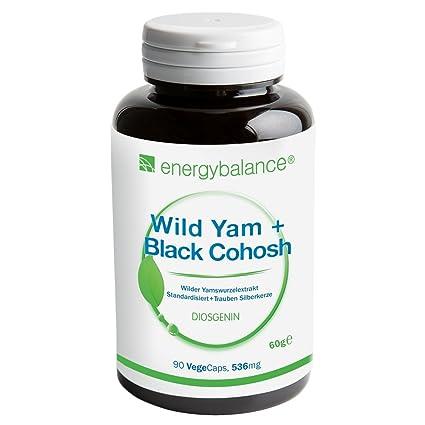 Wild Yam, Dioscorea, Raíces de ñame salvaje + Black Cohosh, cimicifuga, Actaea