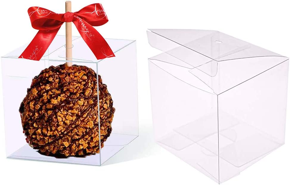 30 PCS Clear Candy Apple Box With Hole Top | 4
